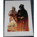 Jeremy Bulloch & Dave Prowse Autograph Signed Limited Print